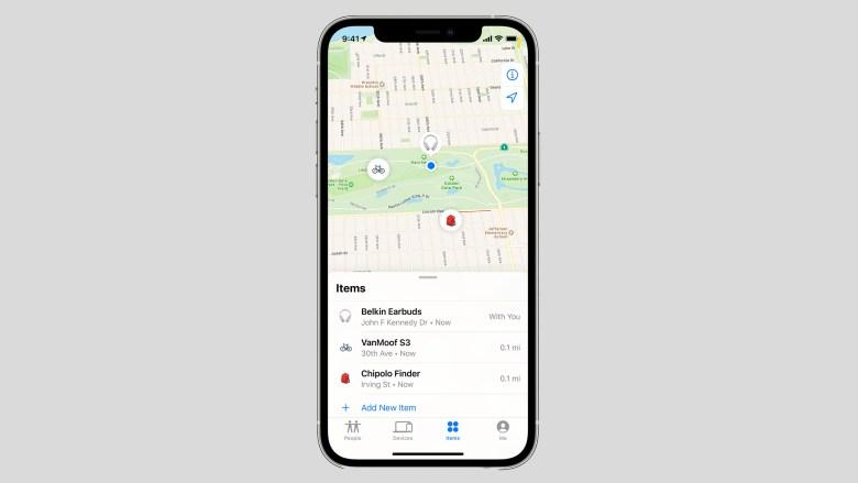 Apple Find My avec prise en charge des accessoires tiers