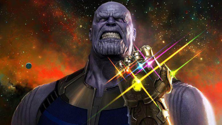Thanos avec le Gantelet de l'Infini.