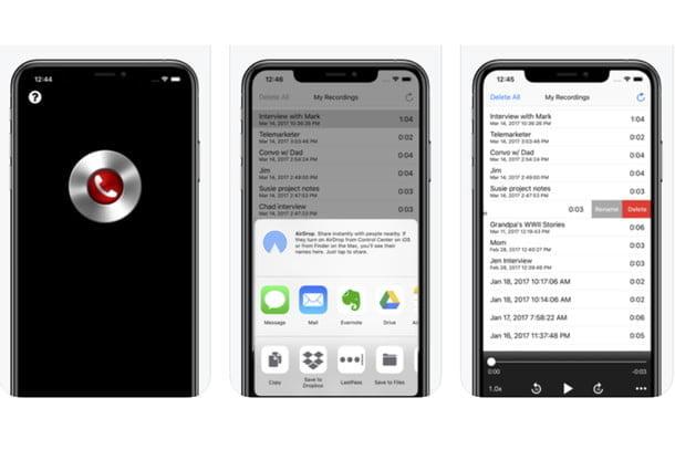 Call Recorder Pro pour enregistrer les appels sur un iPhone.