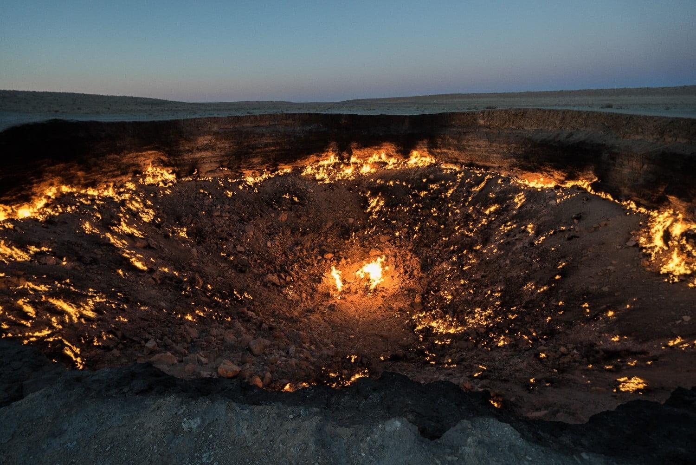 La porte de l'enfer de Darvaza