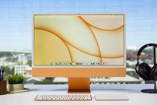 Apple iMac M1 24 pouces en jaune, l'un des meilleurs ordinateurs de bureau