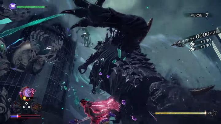 Les créatures qui se battent dans Bayonetta 3.