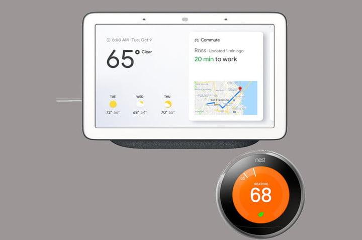 Google fonctionne avec un thermostat Nest.