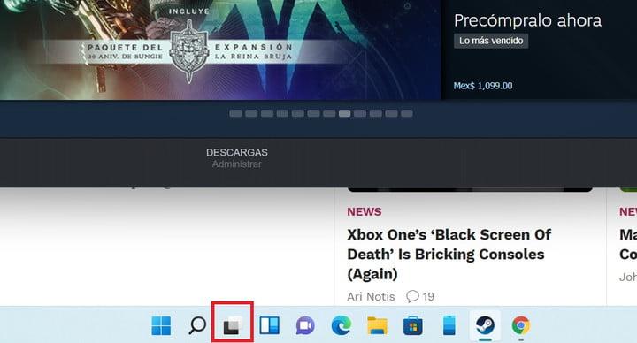 L'icône pour la création de bureaux virtuels dans Windows 11