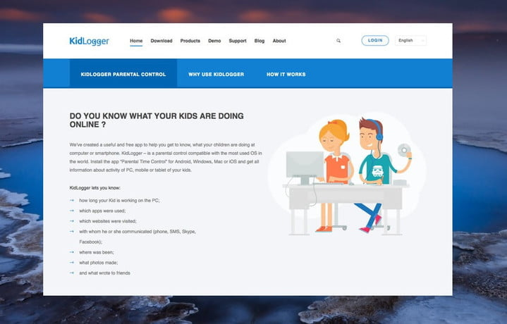 Kidlogger, one of the best parental control programs.