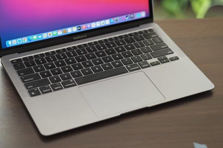 Vue du clavier d'un MacBook Air