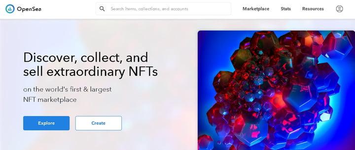 Open Sea, une plateforme pour la commercialisation des NFTs